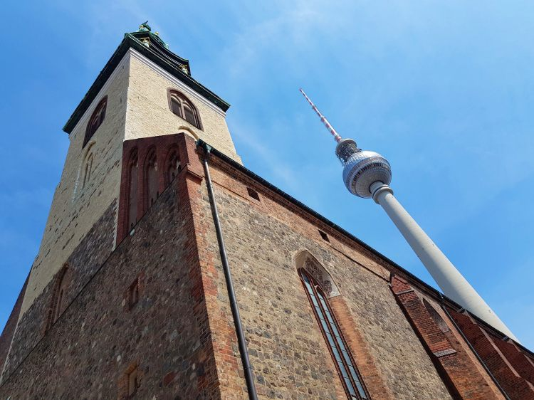 Berlin: Marienkirche and Fernsehturm