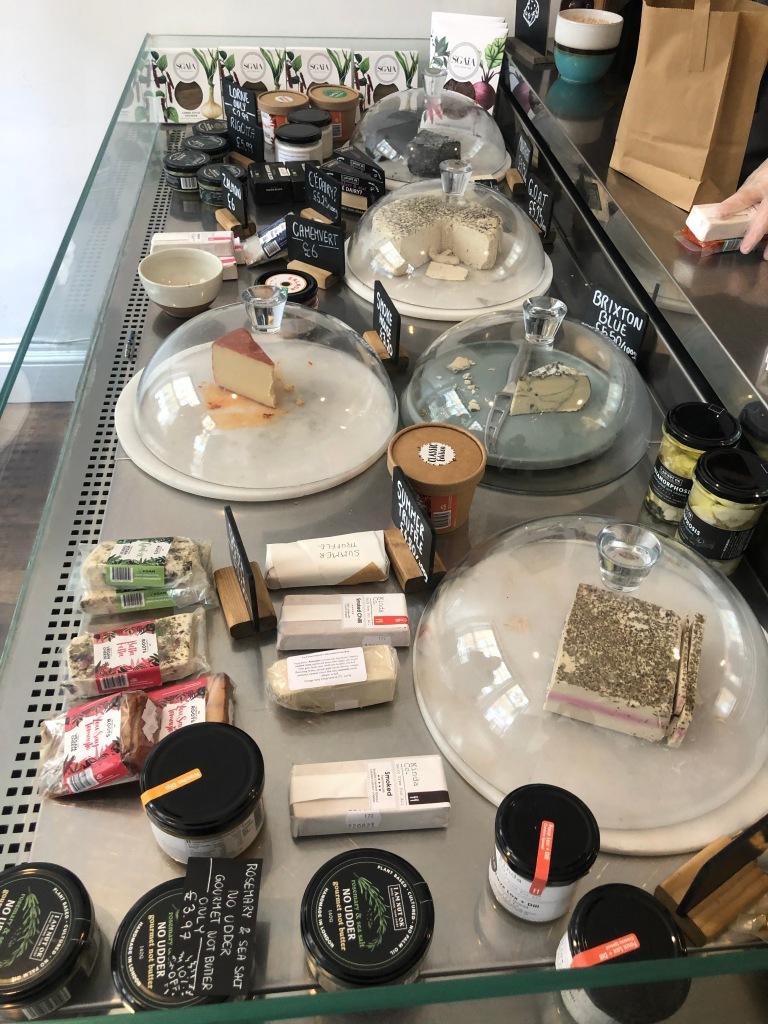 La Fauxmangerie counter selection of vegan cheese