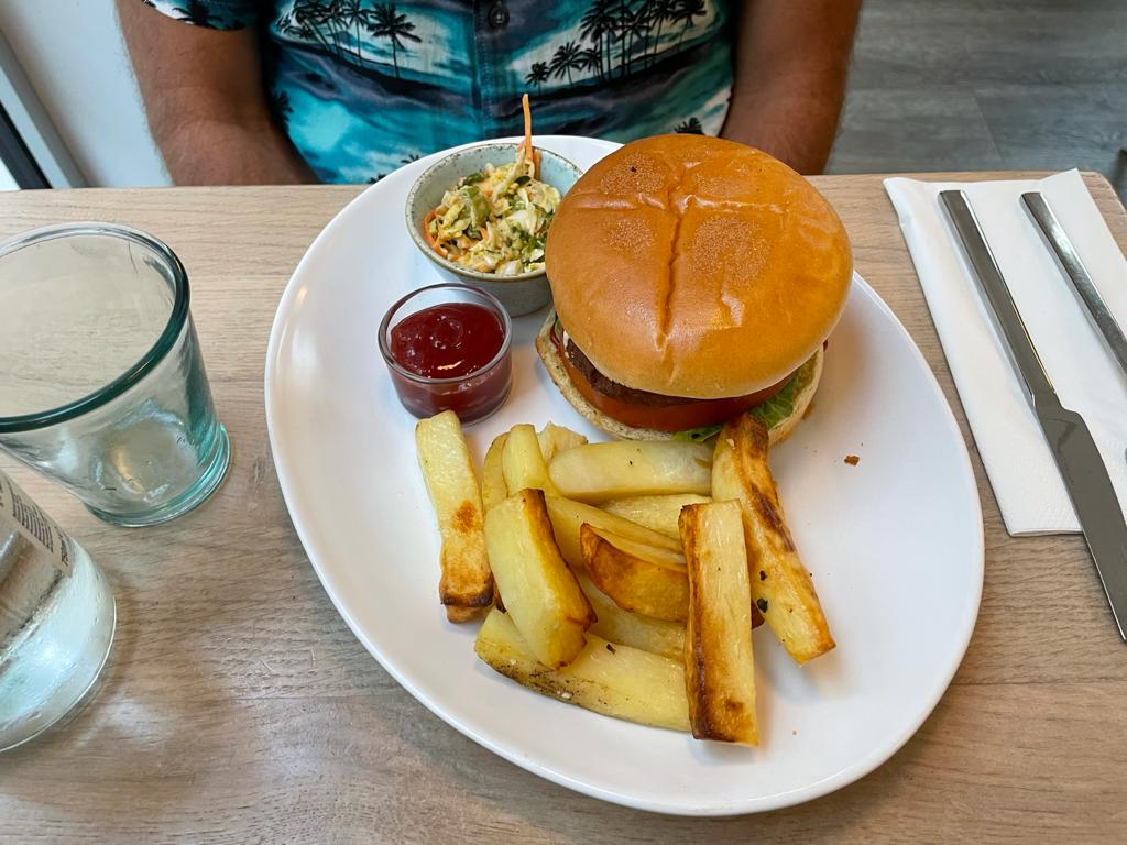 Stem and Glory: burger and chips
